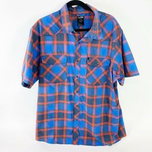 The North Face Pearl snap western plaid shirt